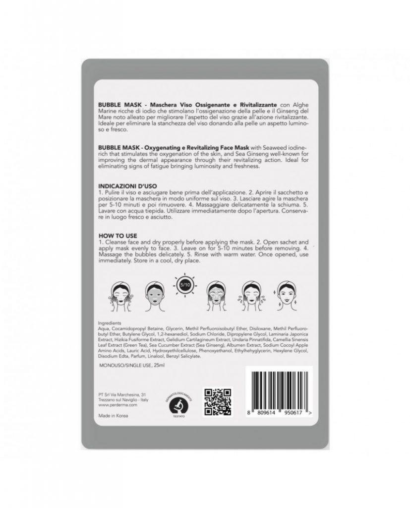 Bubble Mask Oxigenante y Revitalizante